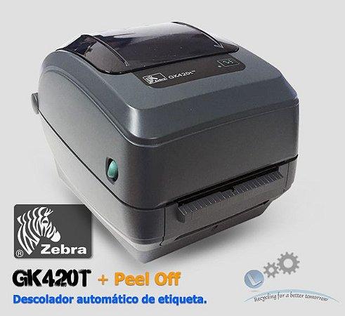 Impressora de etiquetas Zebra GK420T + Kit Peel Off