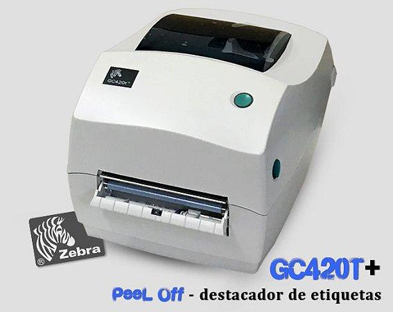 Impressora de etiquetas Zebra GC420T + Kit PeeL Off