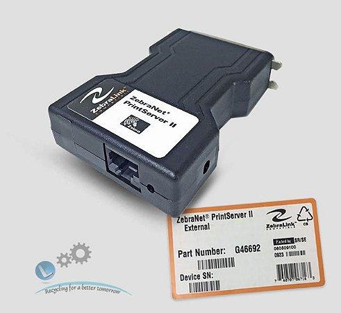 ZebraNet Print Server II 10Base-T externo | G46692 - Lservice peças