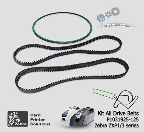 Correias e O-Ring Kit, Zebra ZXP1-ZXP3|P1031925-125