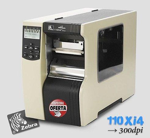 Impressora Industrial Zebra 110Xi4 (300dpi )→ L104mm (↔)
