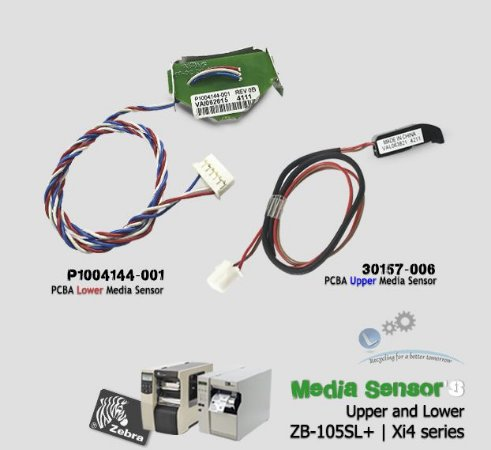 Media Sensor's (Upper and Lower) Zebra Xi4 series & 105SL Plus| P1004144-001 - 30157-006