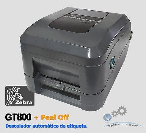 Impressora de etiquetas Zebra GT800 + Kit Peel Off