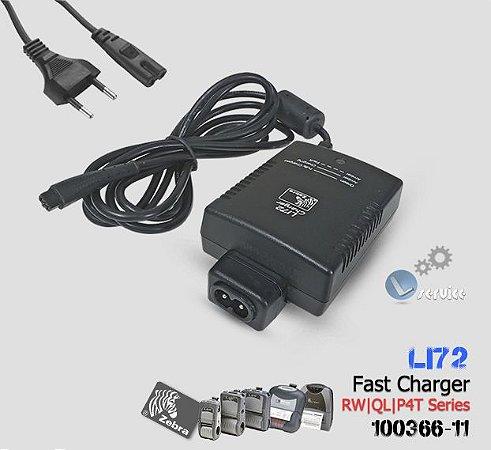 Carregador de Bateria Zebra QL/RW/P4T/RP4T |100366-11| LI72