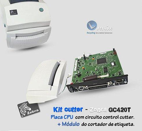 Kit módulo cortador de etiqueta Zebra GC420T