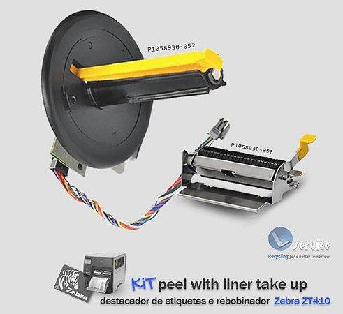 Peel Off + Liner Take-Up de etiquetas (KIT) Zebra ZT410/ZT411