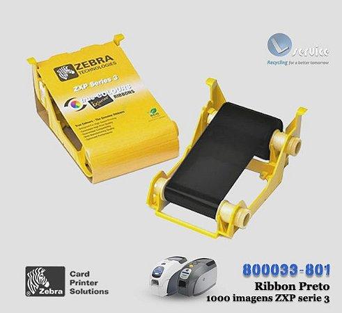 Ribbon Preto Zebra Card Zxp3/ 1xx series |1000 Imagens