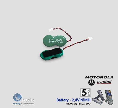 Bateria backup Ni-Mh 2,4V- Motorola-Symbol-Zebra (5pçs)