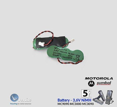 Bateria backup Ni-Mh 3,6V- Motorola-Symbol-Zebra (5pçs)