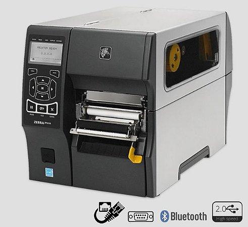 Impressora de etiquetas Zebra ZT410 + Peel Off + Rebobinador de Liner