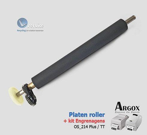 Rolo de Impressão + Kit Engrenagens Argox Os214 TT / Plus