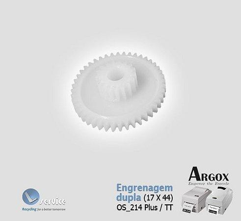 Engrenagem dupla (17T X 44T) Argox OS214 Plus / TT