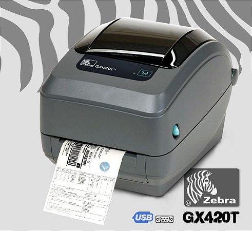 Impressora Zebra GX420T+ USB e Serial