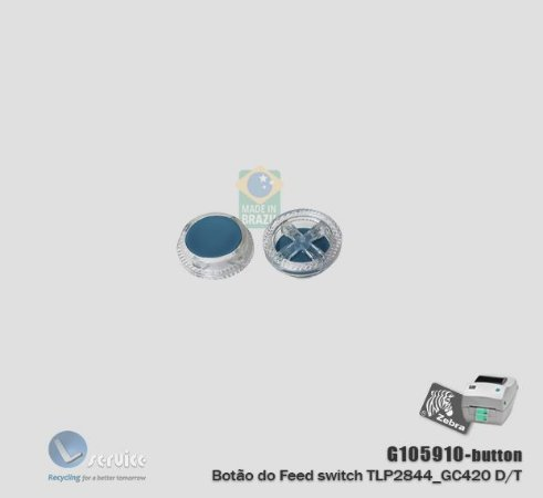 Botão do avanço de papel Zebra TLP2844_GC420T