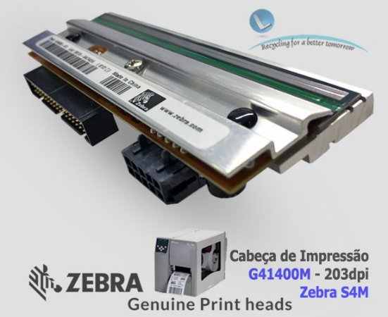 Cabeça de Impressão Zebra S4M|203DPi|G41400M