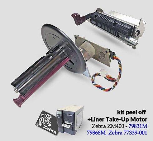 Peel Off + Rebobinador de etiquetas Zebra ZM400