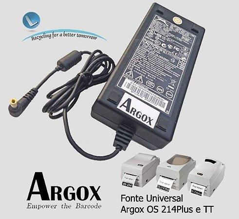Fonte Argox Universal Os 214 |Todos os modelos TT e Plus (Compativel)