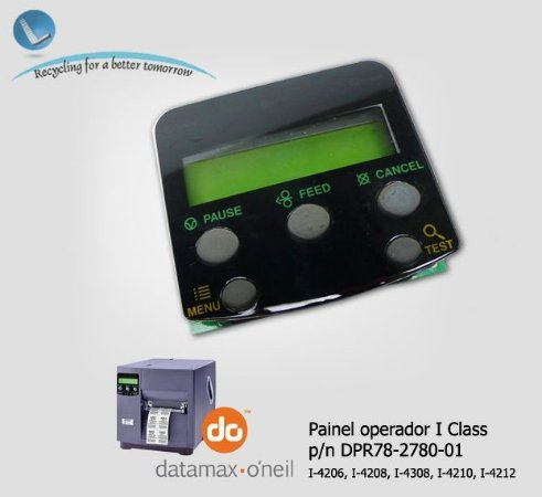 Painel do operador Datamax I-Class, DPR78-2780-01