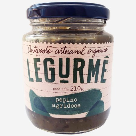 Antepasto orgânico de Pepino Agridoce 210g