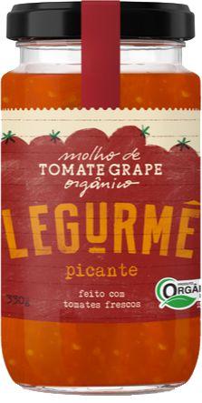 Molho orgânico de Tomate Grape Picante - 330g