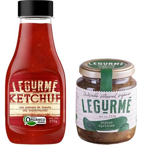Kit: Ketchup orgânico 270g + Pepino Agridoce orgânico 210g