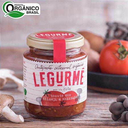Antepasto orgânico de Tomate Assado com Shimeji e Shiitake