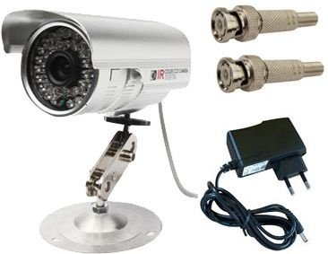 Câmeras de segurança infravermelho AHD para monitoramento dia e noite oferta brinde fonte e bnc
