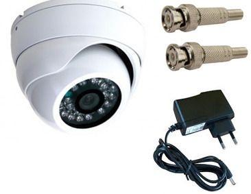 Câmeras de segurança dome com léds infravermelho para ambientes interno e externo fonte bnc brinde com