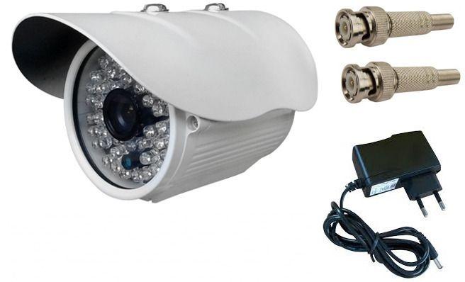 Câmeras de segurança e vigilância para monitoramentos infravermelho ideal para residencia e comercio com fonte e bnc kit completo
