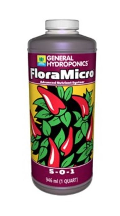 Fertilizante FloraMicro 5-0-1 946ml - General Hydroponics
