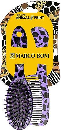Kit Pente E Escova Estampa Animal Print, Marco Boni, Sortida