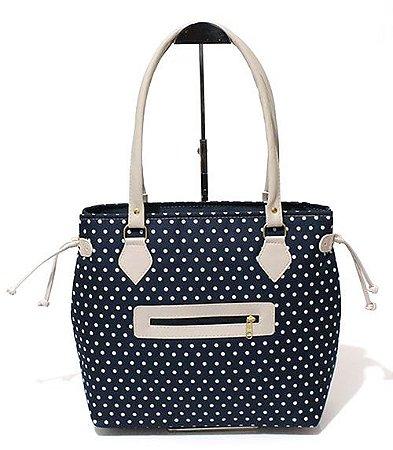 Bolsa de Lona Azul com Bolinhas Atacado 15-11