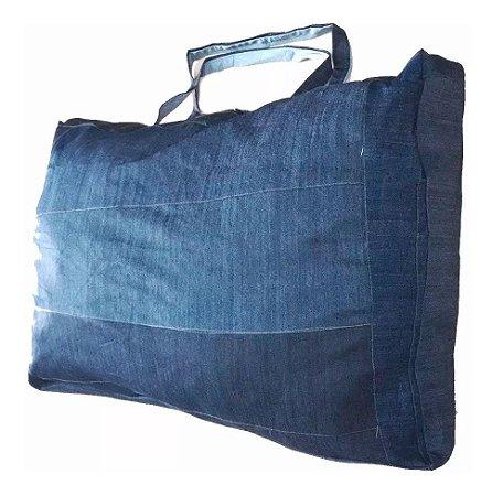 Sacolão Jeans de Retalhos 120 litros Atacado