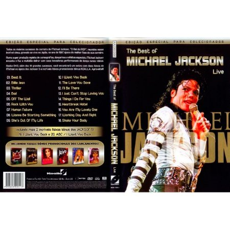 Dvd Usado The Best Of Michael Jackson - Live - Original