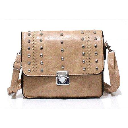 Bolsa Transversal Pequena com Tachas Atacado S9823-7