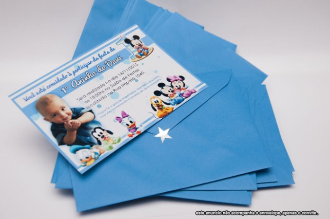 60 convites 10x15 s/ envelope + frete