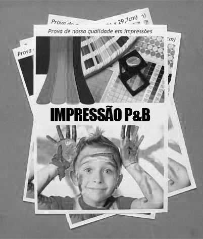 Impressão P&B A4