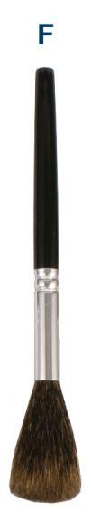 (F) Escova de impressão digital de esquilo de 17.145cm  SKU: FS-BRS1.75