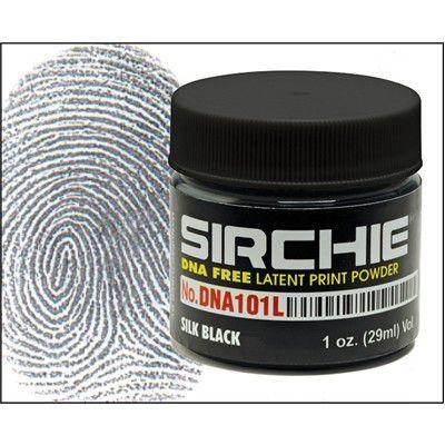 Pó para impressão digital latente preto de seda livre de DNA 1 oz SKU: DNA101L