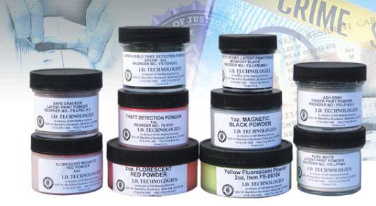 Pó para impressão digital de 226 gramas  de uso duplo tanto para superficie escura como  clara SKU: FS-LPSB8