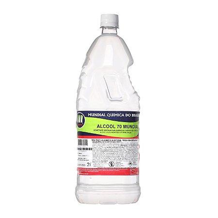 Álcool Líquido 70% Mundial- 2 L
