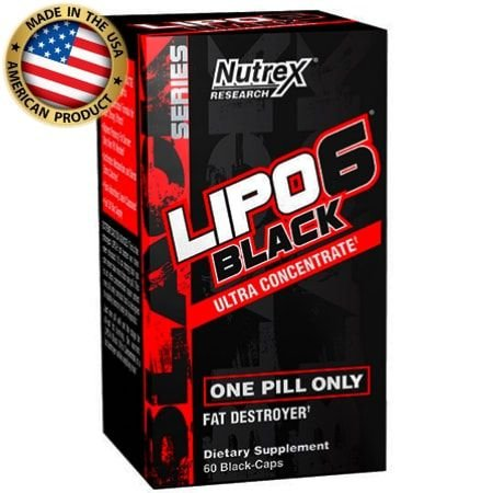 Lipo 6 Black Ultra ConcenTrate (60caps) - Termogênico - Nutrex