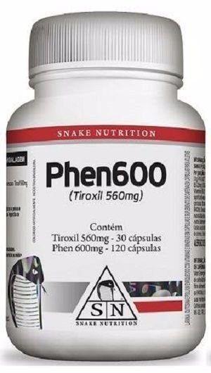 Phen600 - Termogênico Underground - (150caps) - Snake Nutrition