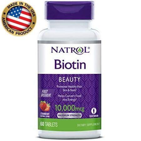 Biotina - 10.000 mcg - (60 tablets) -  Natrol