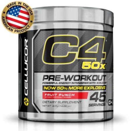C4 50x 45 doses  - Pré treino Importado - Cellucor