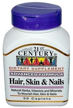 Hair, Skin and Nails - (50 Caps) - 21st Century