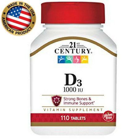 Vitamina D3 1000 IU - (110 tabs) - 21 st Century