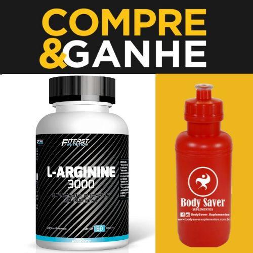 L-Arginina 3000 ( 90 capsulas) - Fit Fast Nutrition