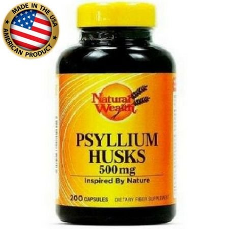 Psyllium Husks - (500mg) - (200 caps) - Natural Wealth