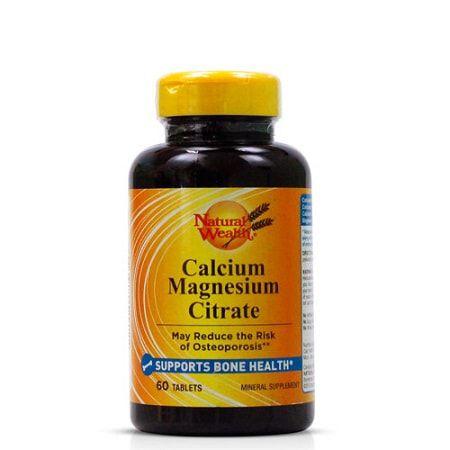 Calcium Magnésium Citrate - (60 tabs) - Natural Wealth